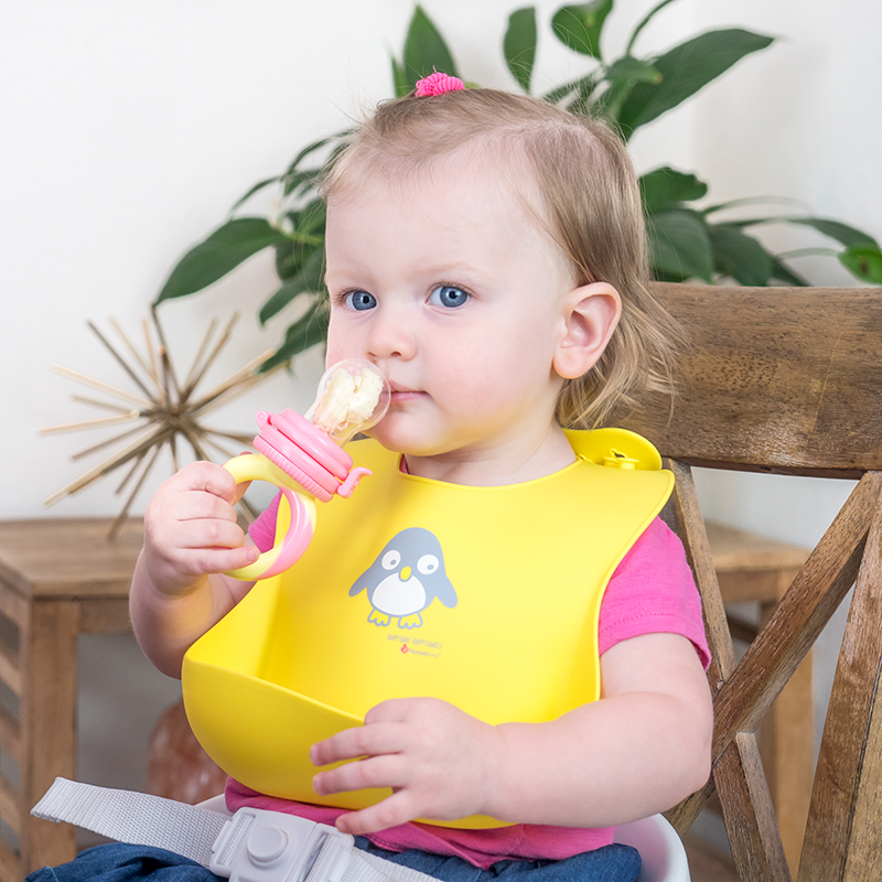 Wipes Clean Easily Soft NatureBond Waterproof Silicone Baby Bibs for Babies /& Toddlers 2 PCs Unisex | Free Waterproof Pouch Adorable in Appetite Stimulating Colors