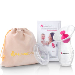 NatureBond Silicone Breast Pump with Silicone Stopper Premium Pack - Yr 2018 Model