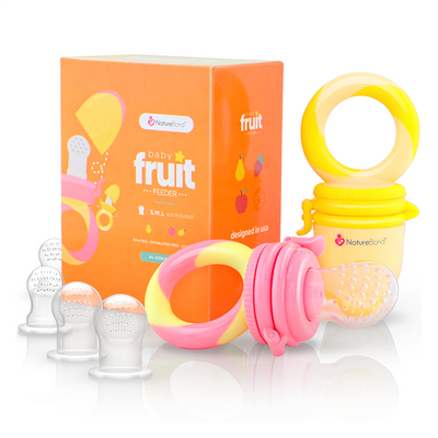 Baby Fruit & Food Feeder - Peach Pink & Lemonade Yellow