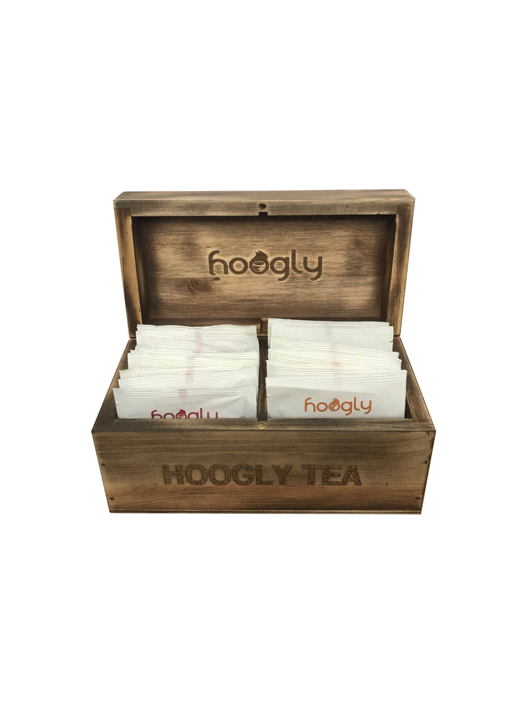 Small Luxury Wooden Box with tea
