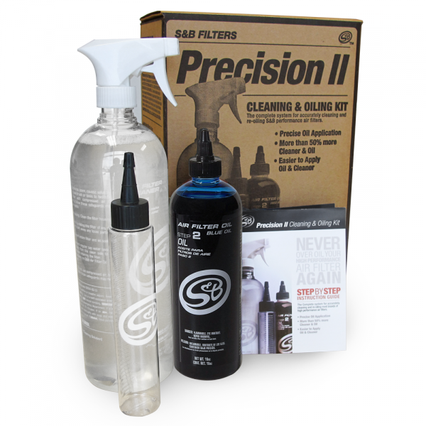 S&B PRECISION II: CLEANING & OIL KIT (BLUE OIL)