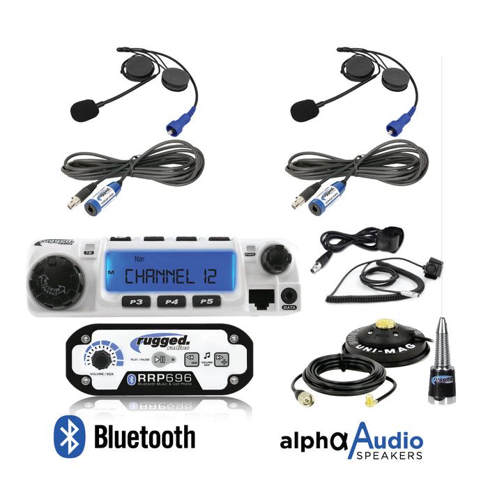 Rugged Radios RRP696 2-Place with 60 Watt Radio and Alpha Audio Helmet Kits