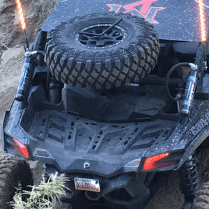 Bent Metal Offroad X3 Spare Tire Carrier on can am