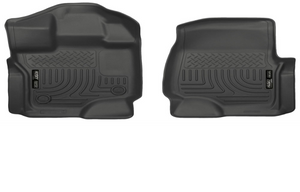 2015-2018 F150 SuperCrew & SuperCab Husky Liners WeatherBeater™ Front Floor Liners (Black)