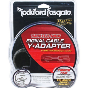 Rockford Fosgate RFIY-1M Signal Cable Y Adapter