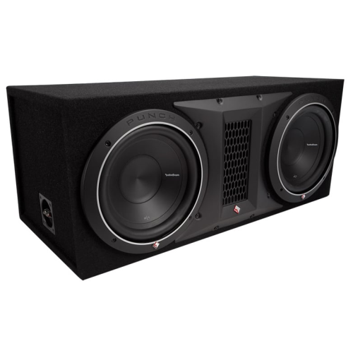 Rockford Fosgate P1-2X10 Dual 10 Inch Subwoofer Loaded Enclosure