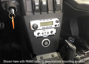 Intercom and RM25R-WP Waterproof Radio Mount for Can-Am X3