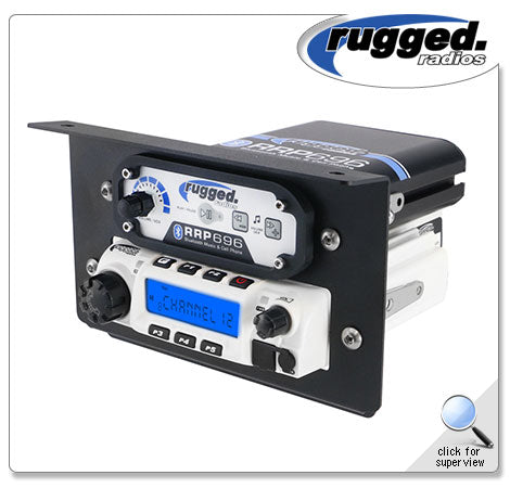 Rugged Radios RM-60 Radio & Intercom Mount for Polaris RZR XP1000/Turbo S