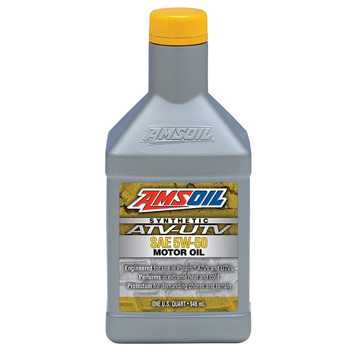 Amsoil AUV50QT 5W-50 Synthetic ATV / UTV Engine Oil