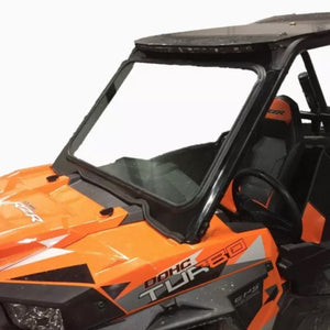 bent metal offroad polaris rzr front windshield side view