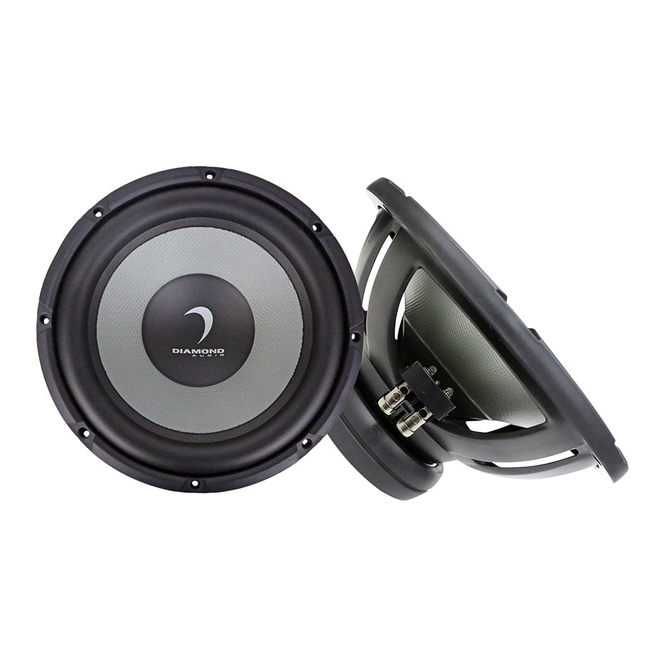 diamond audio dmd104 10 inch 4 ohm subwoofer diamond audio dmd104 front and side view