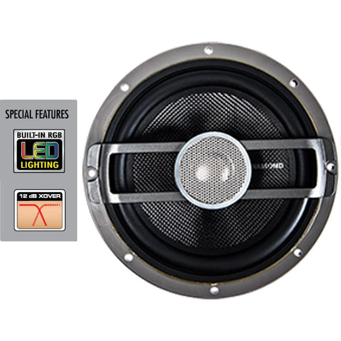 Diamond Audio HXM8 8 Inch Marine Grade LED Speakers