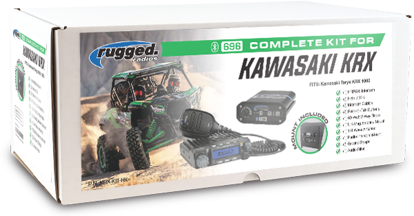 Rugged Radio Complete Kit for Kawasaki KRX