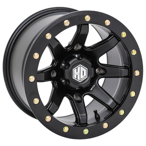 sti hd9 matte black wheel for utv