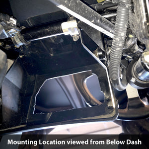 Black Billet Mobile Radio / Intercom Mounting Plate for Can-Am Commander and Maverick