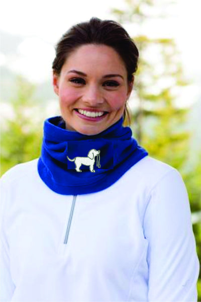 Embroidered Fleece Neck Gaiter