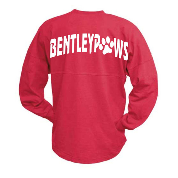 Red Oversized Billboard Crew with Bentley logo on front Dog only and Bentley Paws on Back