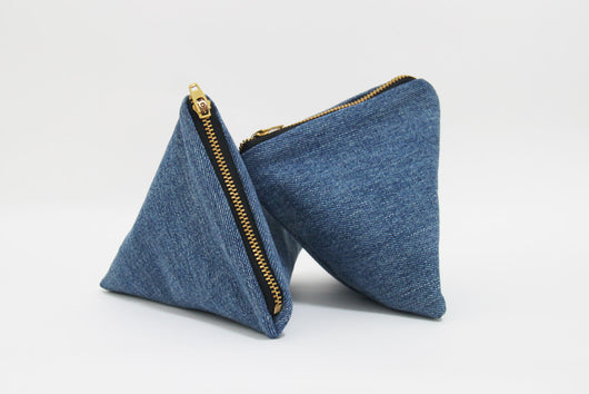 Dumpling Pouch- Blue Denim