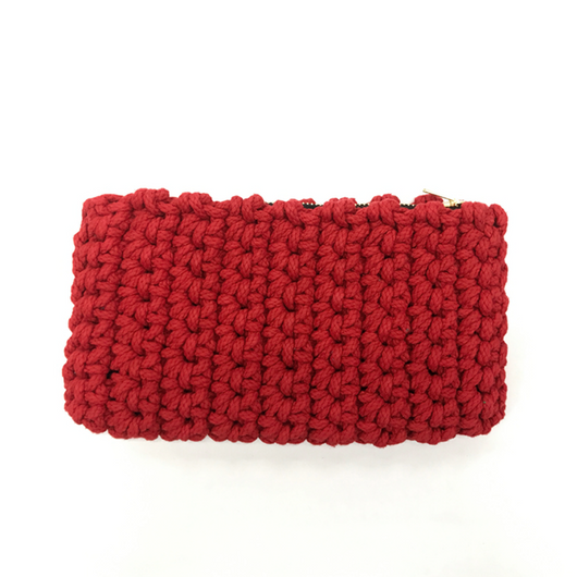 Crochet Clutch- Red