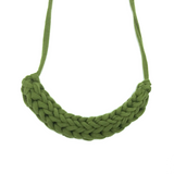 T-Shirt Yarn Necklace- Olive