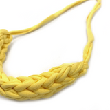 T-Shirt Yarn Necklace- Yellow