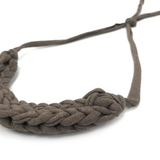 T-Shirt Yarn Necklace- Ash Brown