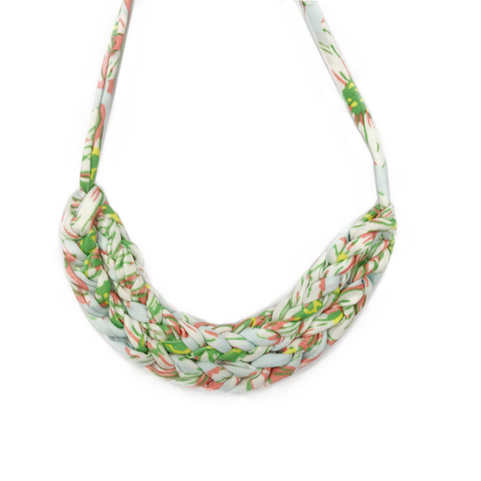 T-Shirt Yarn Necklace- Tropical Blue