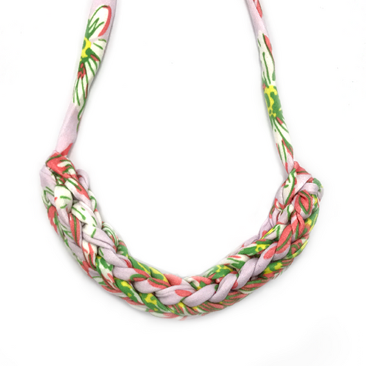 T-Shirt Yarn Necklace- Tropical Pink