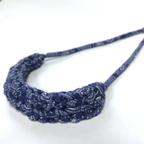 T-Shirt Yarn Necklace- Tribal Blue