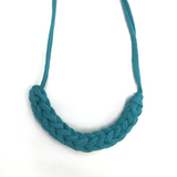 T-Shirt Yarn Necklace- Turqoise Blue