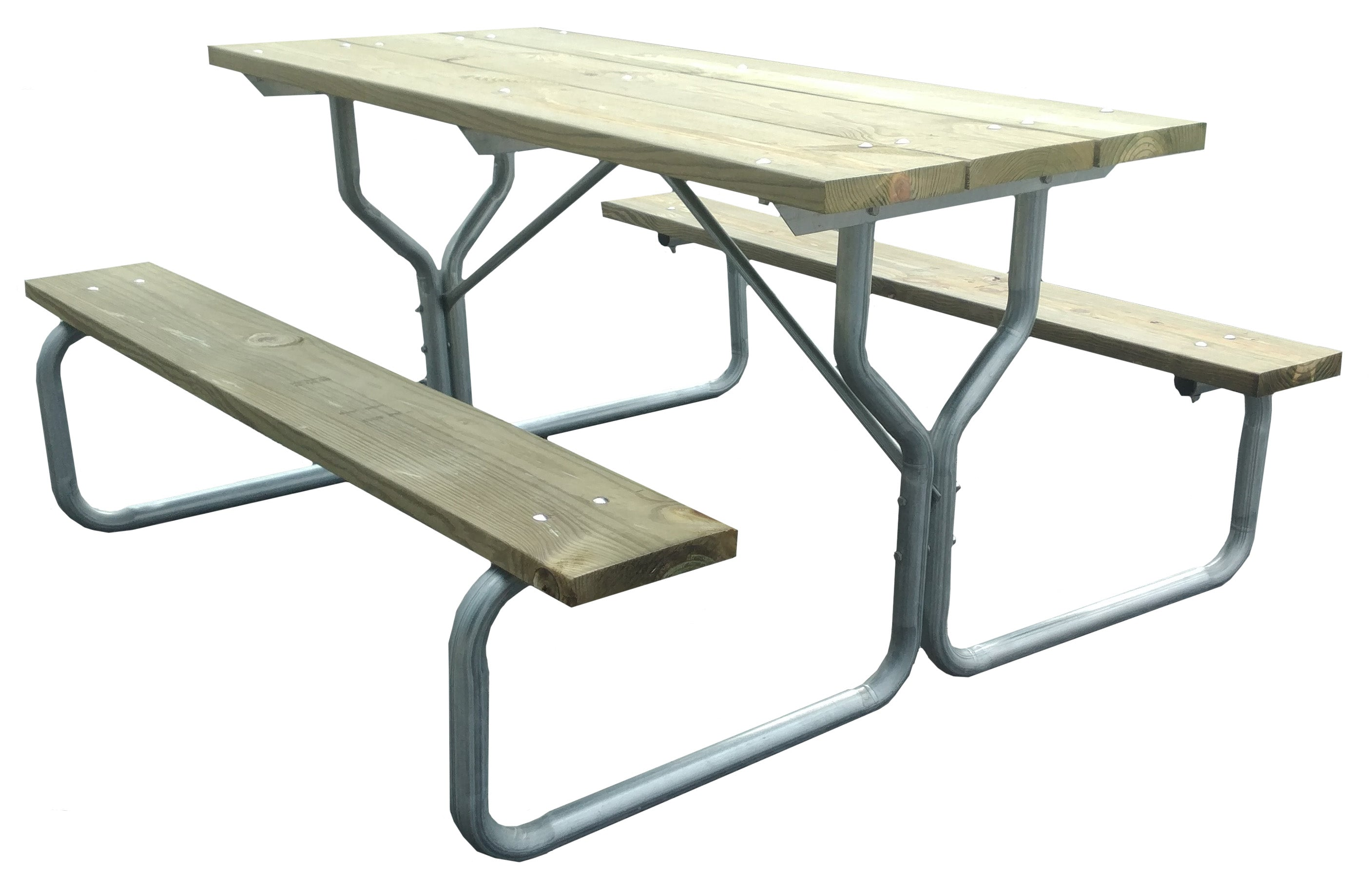Picnic Table With Galve Steel Frame