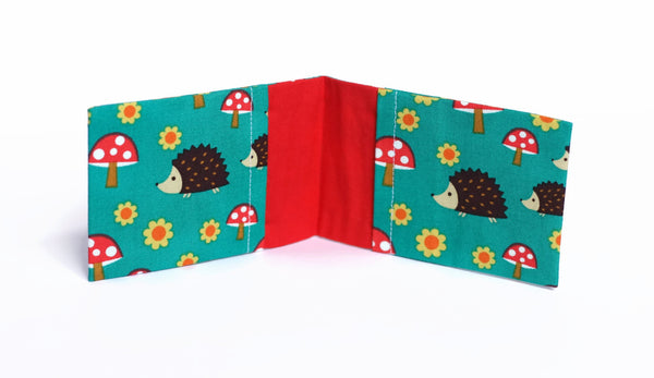 Hedgehog and Toadstool Card Holder - Cherry Plum Tree