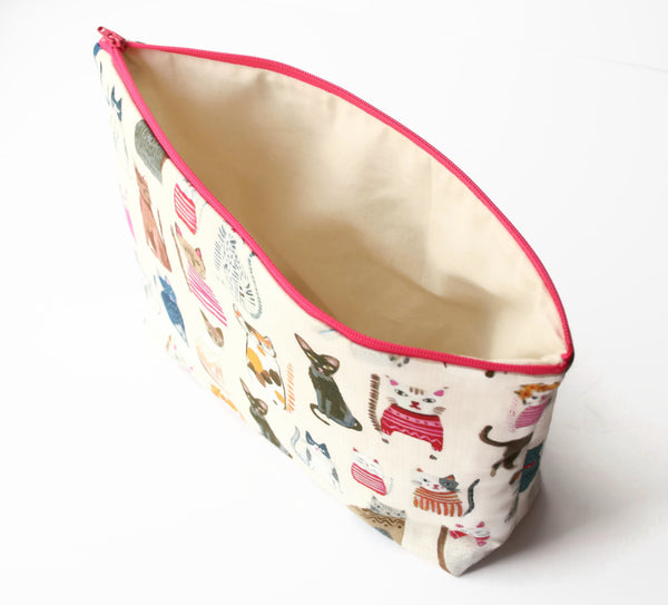Cats Knitting & Crochet Project Bag - Cherry Plum Tree