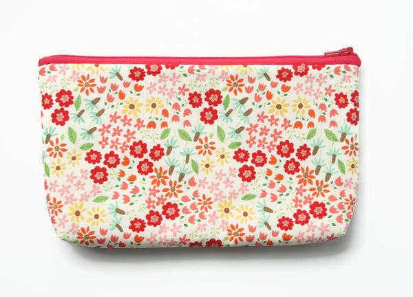 Pink Floral Padded Pencil Case - Cherry Plum Tree
