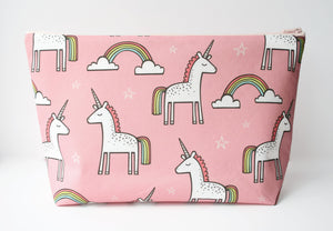 Unicorn Knitting Bag - Pink Project Bag - Cherry Plum Tree