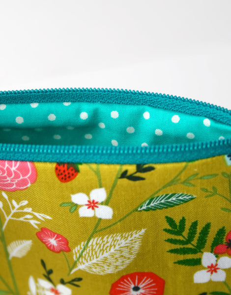 Coin Purse - Green and Teal Polka Dot