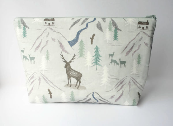 Grey Stag Knitting Project Bag