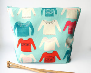 Extra Large Knitting Bag - Sweater Project Bag