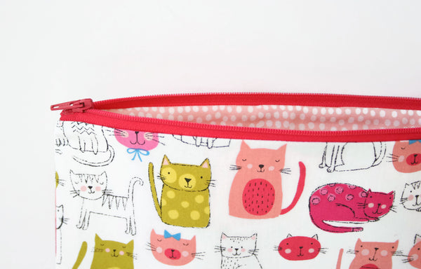 Pink Cats Pencil Case