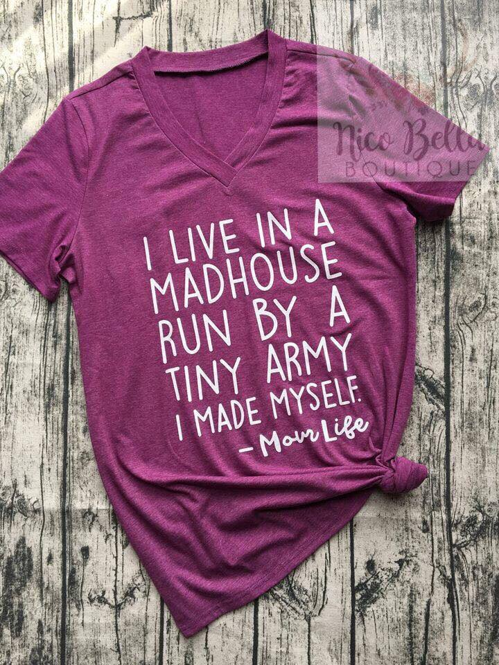 Madhouse Momlife Graphic Tee - Nico Bella Boutique