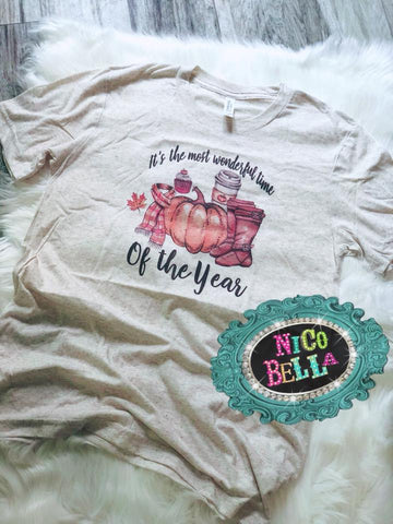 The Most Wonderful Time Of The Year Fall Tee - Nico Bella Boutique