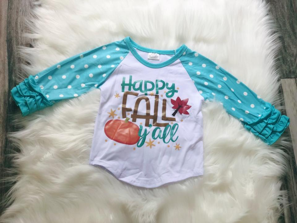 Happy Fall Yall Icing Raglans - Nico Bella Boutique