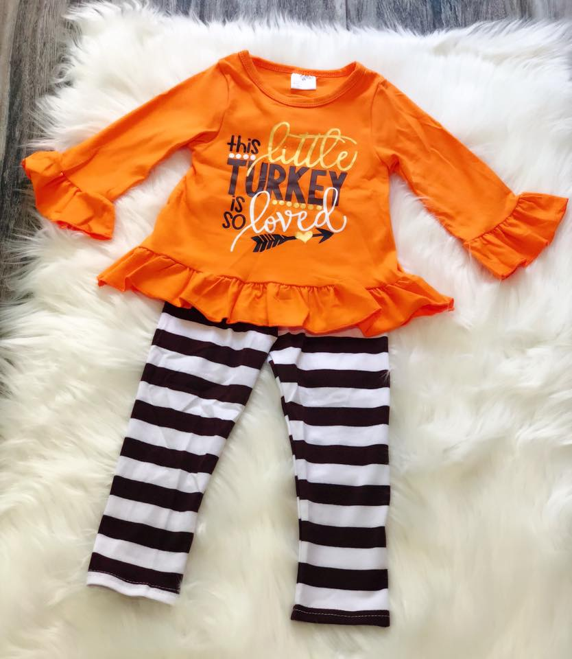 This Little Turkey Is So Loved Set - Nico Bella Boutique