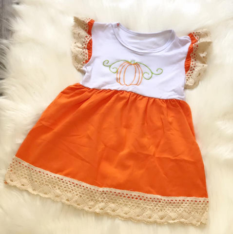 Pumpkin Stitch Dress - Nico Bella Boutique