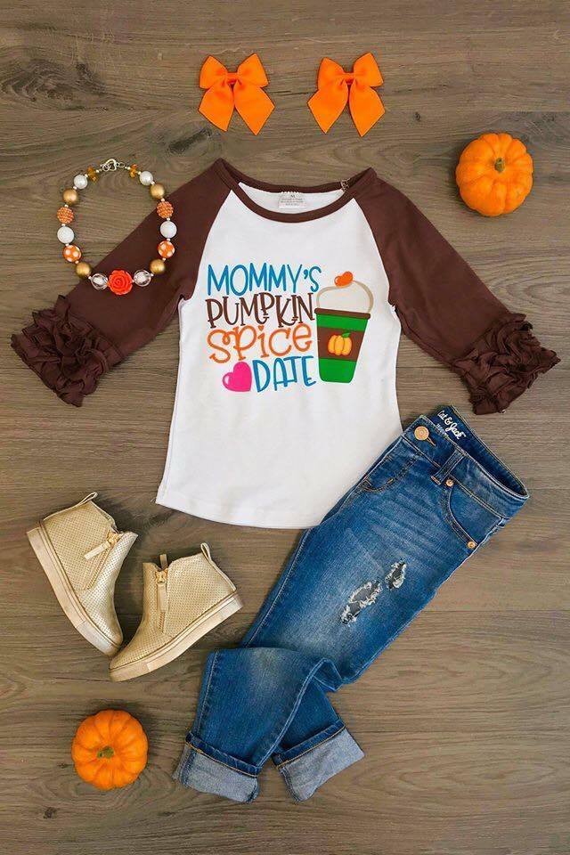 Mommy's Pumpkin Spice Date Icing Raglans - Nico Bella Boutique