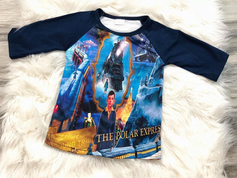 Polar Express Raglan - Nico Bella Boutique