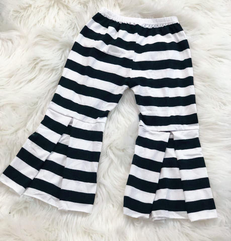 Black and White Stripe Palazzo Pants - Nico Bella Boutique