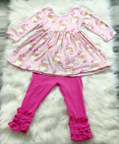 Pink Christmas Vintage Santa Set - Nico Bella Boutique