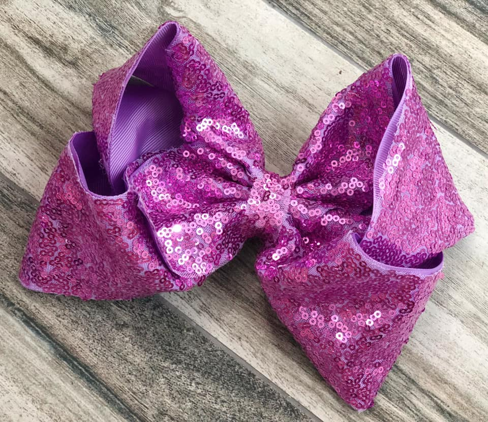 Lavender Sequin Bow - Nico Bella Boutique