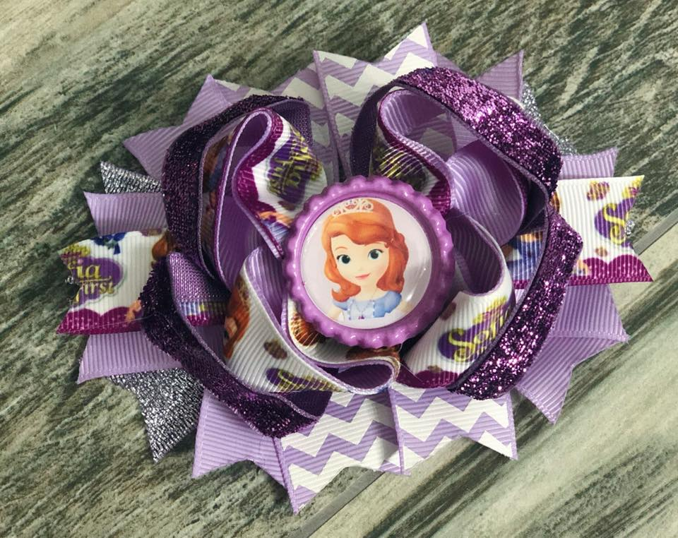 Sofia the First Hair Bow - Nico Bella Boutique